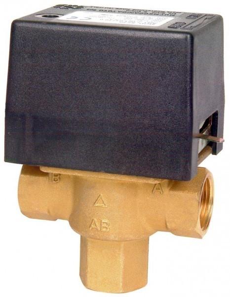 """Elektrický trojcestný ventil. Připojení 3/4\"""" in 230 V"""